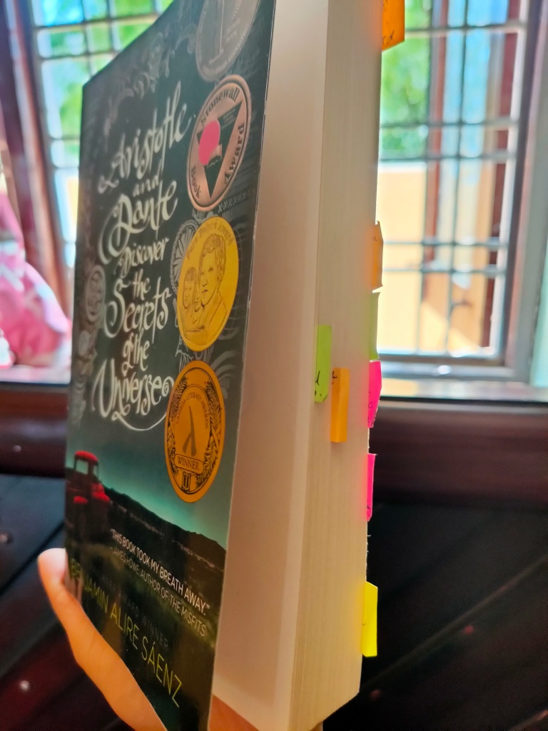 Image Copyright @thescribblersrefuge.com 2021 Book Reading from My Reading list- Aristotle and Dante Discover the Secrets of the Universe by Benjamin Alire Sáenz