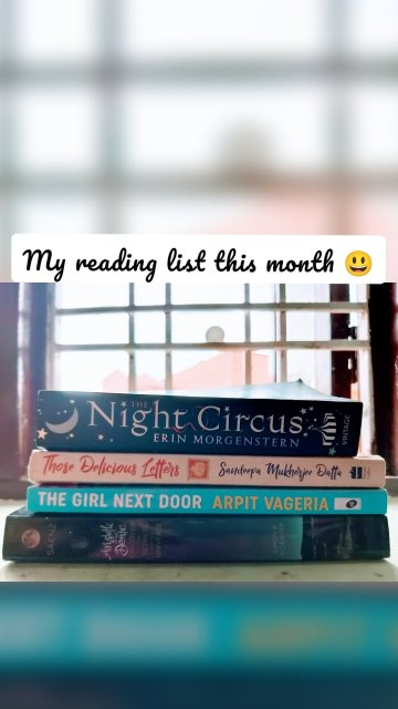 My reading list this month 😃